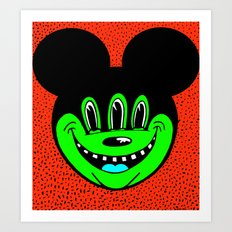 MICKEYES. (Turquoise Tongue). Art Print