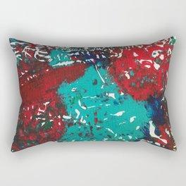 Abstracted Wolf and Kitten Rectangular Pillow