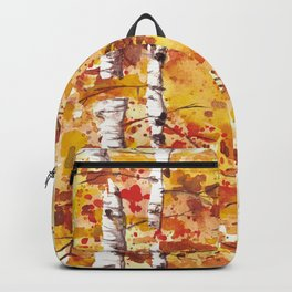 Fall Birch Trees Backpack