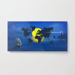 Sailing Around The World II Metal Print