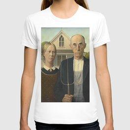 AMERICAN GOTHIC - GRANT WOOD T-shirt