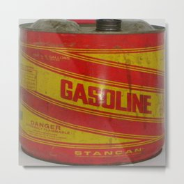 gasoline vintage stancan old can Metal Print