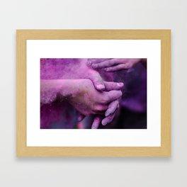 Purple Hands Framed Art Print