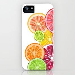 Citrus slices iPhone Case