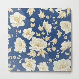 Design of vintage floral pattern. Metal Print
