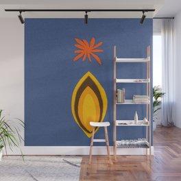 de Flower [blue] Wall Mural