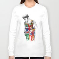 zayn Long Sleeve T-shirts featuring Zayn Superhero  by Coconut Wishes