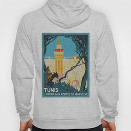 Tunis Tunisia - Vintage Africa Travel Poster Hoody