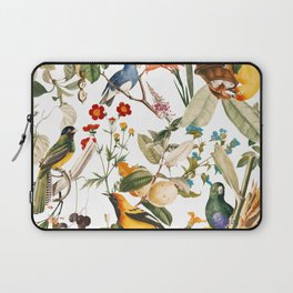 Floral and Birds XXXII Laptop Sleeve