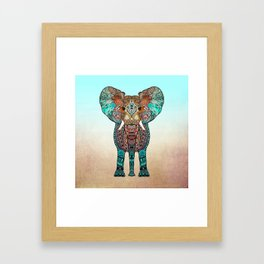 BOHO SUMMER ELEPHANT Framed Art Print