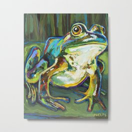Colorful Bullfrog by Robert Phelps Metal Print