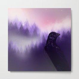 Mythical crow Metal Print