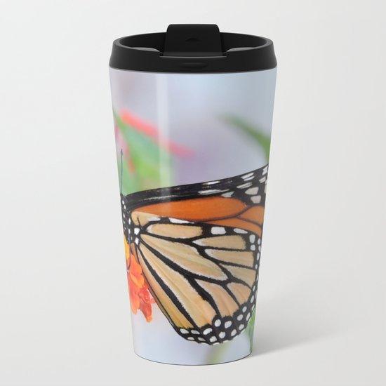 The Monarch Has An Angle Metal Travel Mug