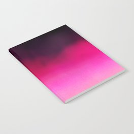 Purple and Black Abstract Notebook