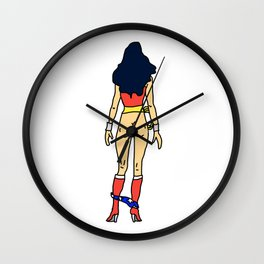 Wonder Butt - Light Ass - Feminism Wall Clock