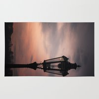 victorian Area & Throw Rugs featuring Victorian Lantern by Maria Heyens