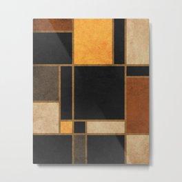 Mondrian Inspired 2 - Modernist Geometric Abstract Metal Print