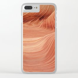 Wave Rock in the Coyote Buttes Clear iPhone Case