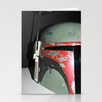 boba fett Stationery Cards featuring Boba Fett by McKenzie Nickolas