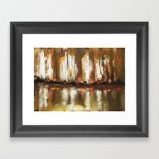 Brown City Framed Art Print