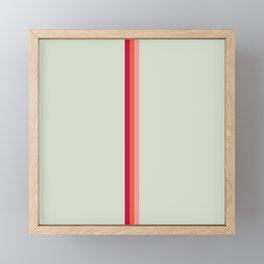 Arimaspi - Classic Colorful Abstract Minimal Retro 70s Style Stripes Design Framed Mini Art Print