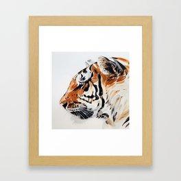 TIGER IN WATERCOLOR Framed Art Print
