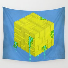 Cubic - Blue Wall Tapestry