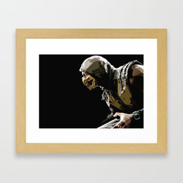 Scorpion - Mortal X Framed Art Print