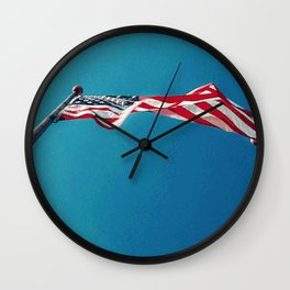 NEW WAVE OLD GLORY Wall Clock