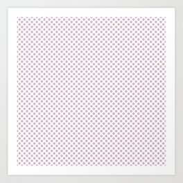 Winsome Orchid Polka Dots Art Print