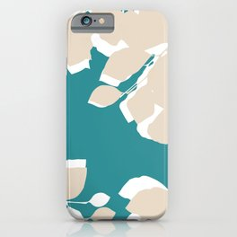 leves teal and tan iPhone Case