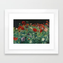 John Singer Sargent , Poppies (a study of poppies for carnation lily, lily, rose), 1886 Framed Art Print