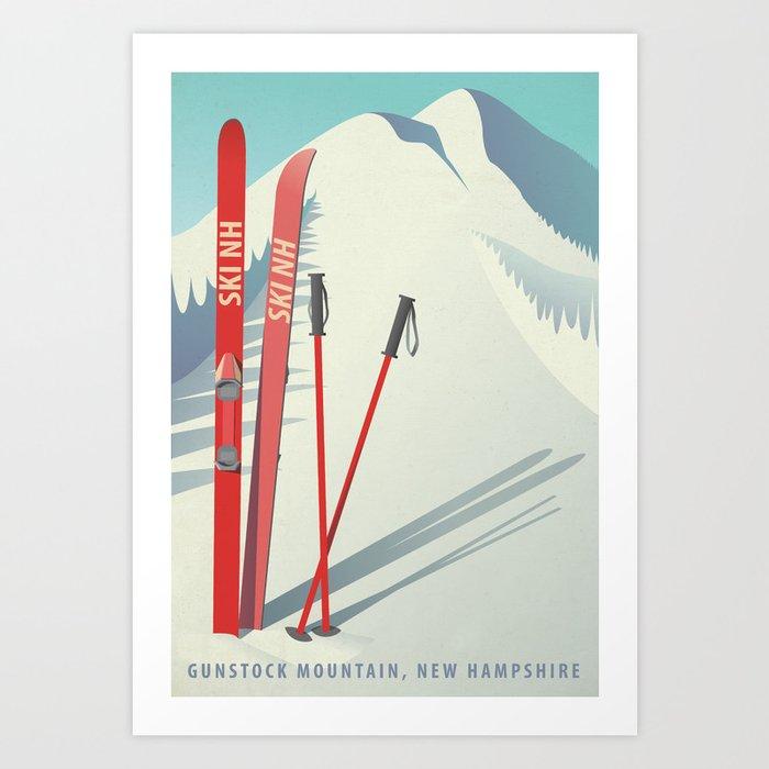 Ski New Hampshire - Gunstock Mountain Kunstdrucke