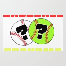 Softball or Baseball Tshirt Design Rug