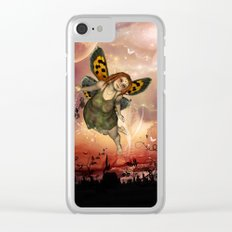 Cute little fairy in the night Clear iPhone Case