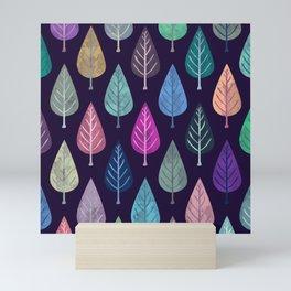 Watercolor Forest Pattern IV Mini Art Print
