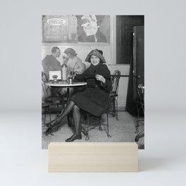 Flapper with Hidden Booze Cane - Prohibition - 1922 Mini Art Print