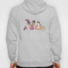 Gorgeous Roller Derby Pinup Girl Hoody