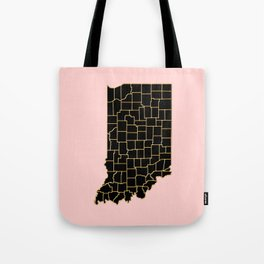 Indiana map Tote Bag