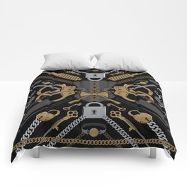 S&M Scarf Print Comforters