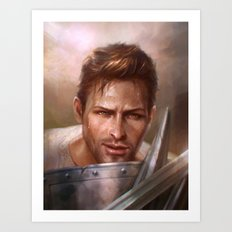 Alistair Sparring Art Print