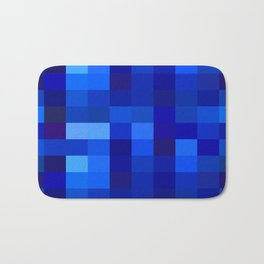 Blue Mosaic Bath Mat