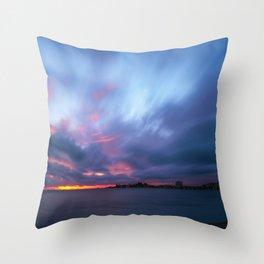 Amazing Sunset at Anse Vata Bay in Noumea, New Caledonia Throw Pillow