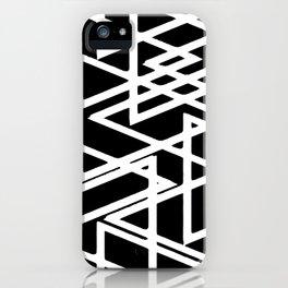 Interlocking White Triangles Artistic Design iPhone Case