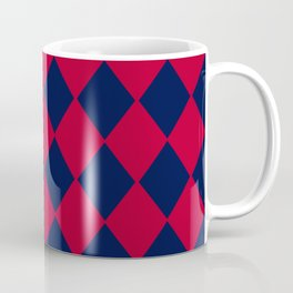 Red blue geometric pattern Coffee Mug