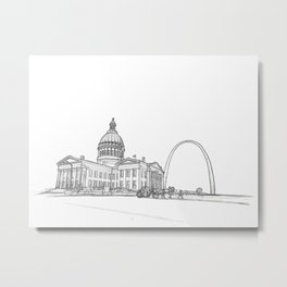 The Arch and capital with  carriage Metal Print