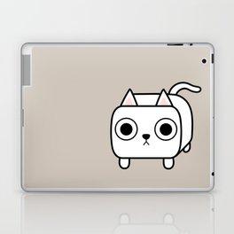 Cat Loaf - White Kitty Laptop & iPad Skin