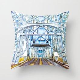 Lift Bridge Throw Pillow