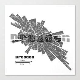 Dresden Map Canvas Print