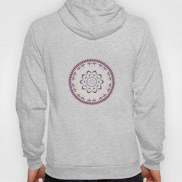 Leaf and petal floral Mandala with radial symmetry Hoody